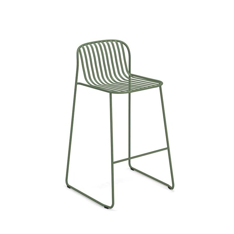 Chaise de bar outdoor kaki RIVIERA Emu