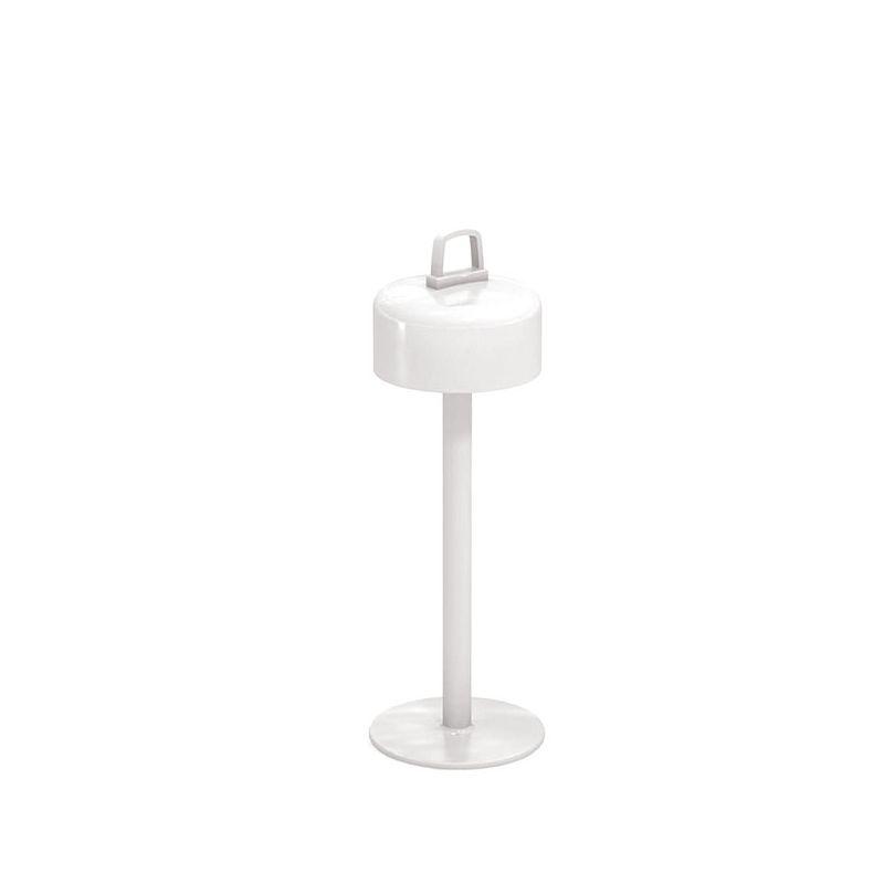 Lampe de table et suspension LED sans fil LUCIOLE Emu, coloris blanc