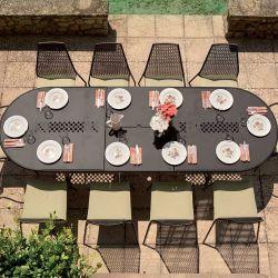 Table de jardin extensible marron d'Inde VERA Emu