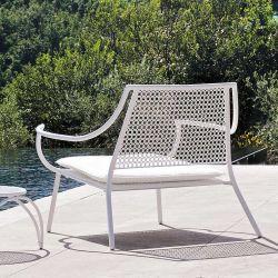 Fauteuil salon de jardin lounge blanc VERA Emu