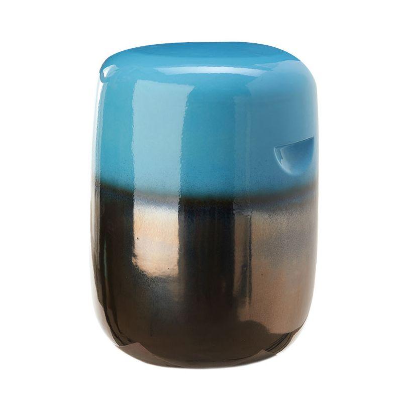 Tabouret céramique bleu PILL Pols Potten