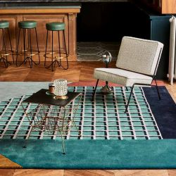Tapis RIMINI collection Access Toulemonde Bochart, coloris Turquoise