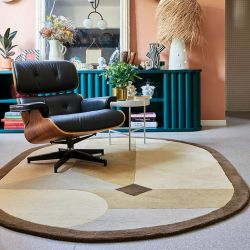Tapis ovale NAVONA beige collection Access Toulemonde Bochart