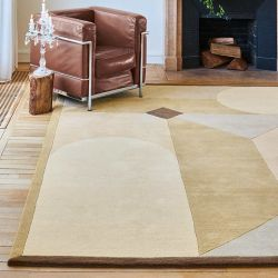 Tapis rectangulaire PIAZZA beige collection Access Toulemonde Bochart