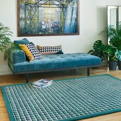 Tapis AMALFI turquoise, collection Access Toulemonde Bochart