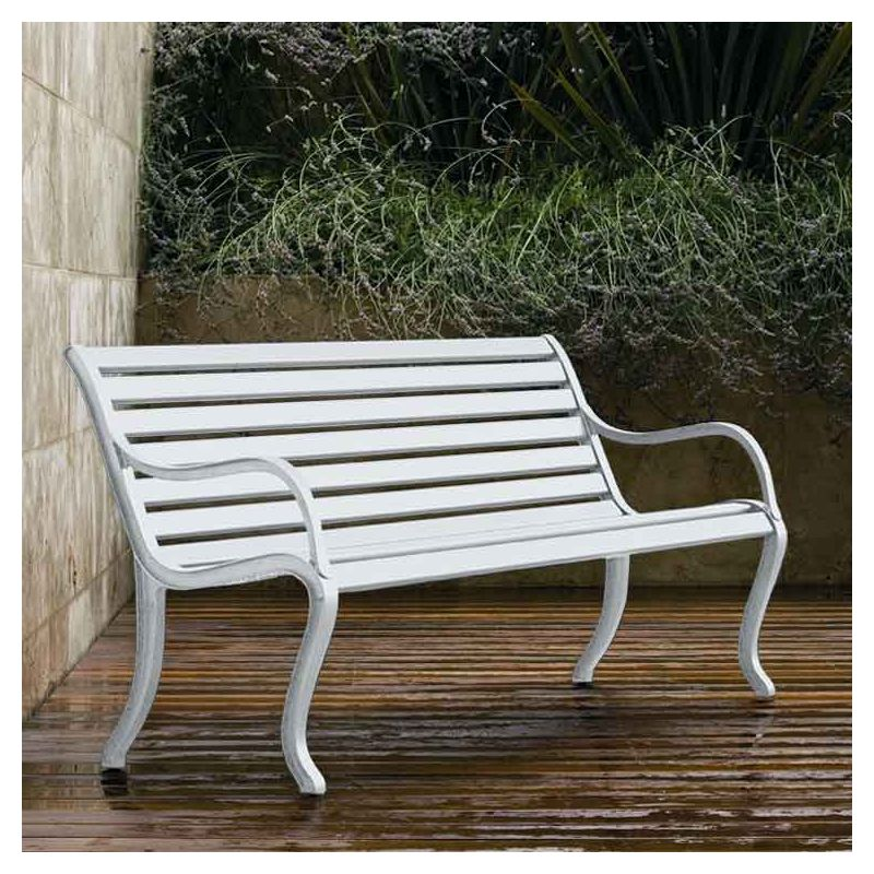 Bancs de jardin OASI Fast en aluminium blanc 1