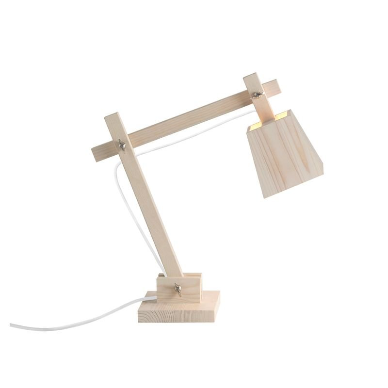 Lampe de table cordon blanc WOODLAMP Muuto