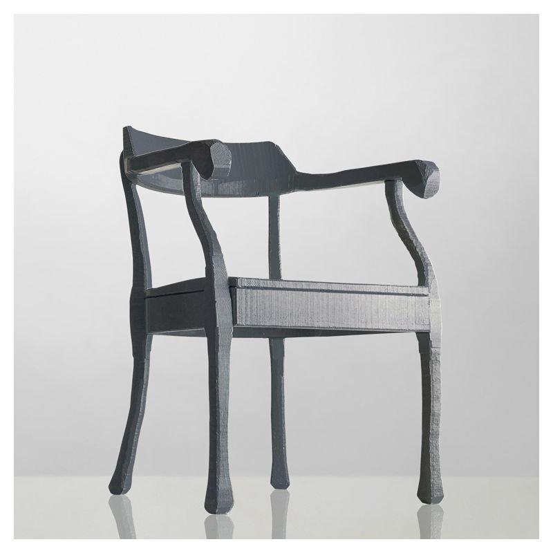 Fauteuil design en bois gris foncé RAW Muuto