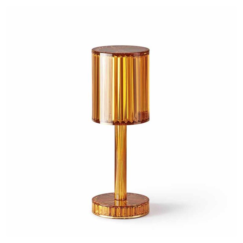Lampe de Table sans fil GATSBY Cilindro, finition ambre
