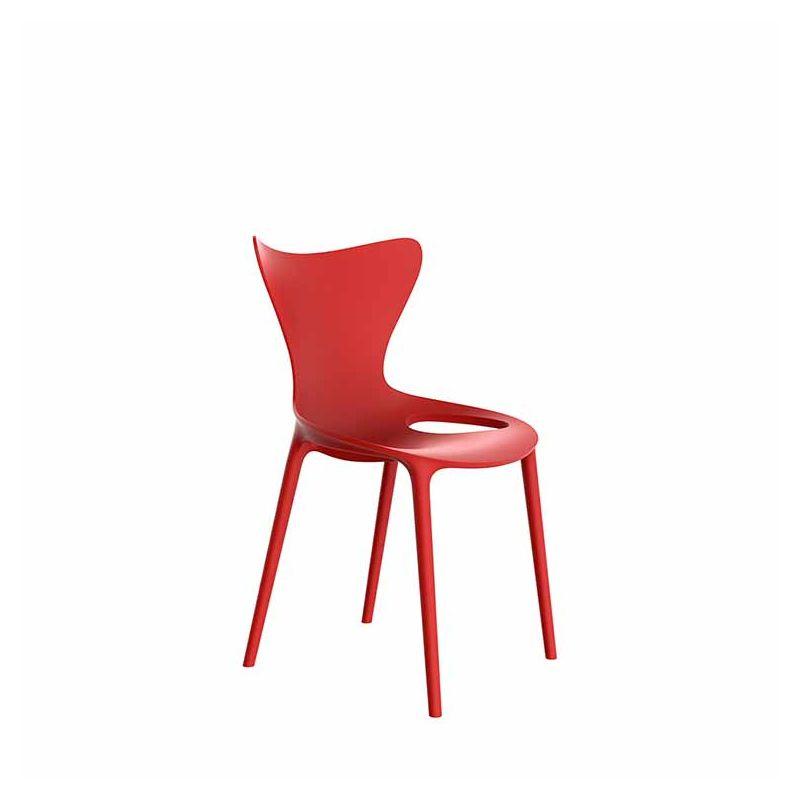 Chaise outdoor LOVE KIDS Vondom, coloris rouge