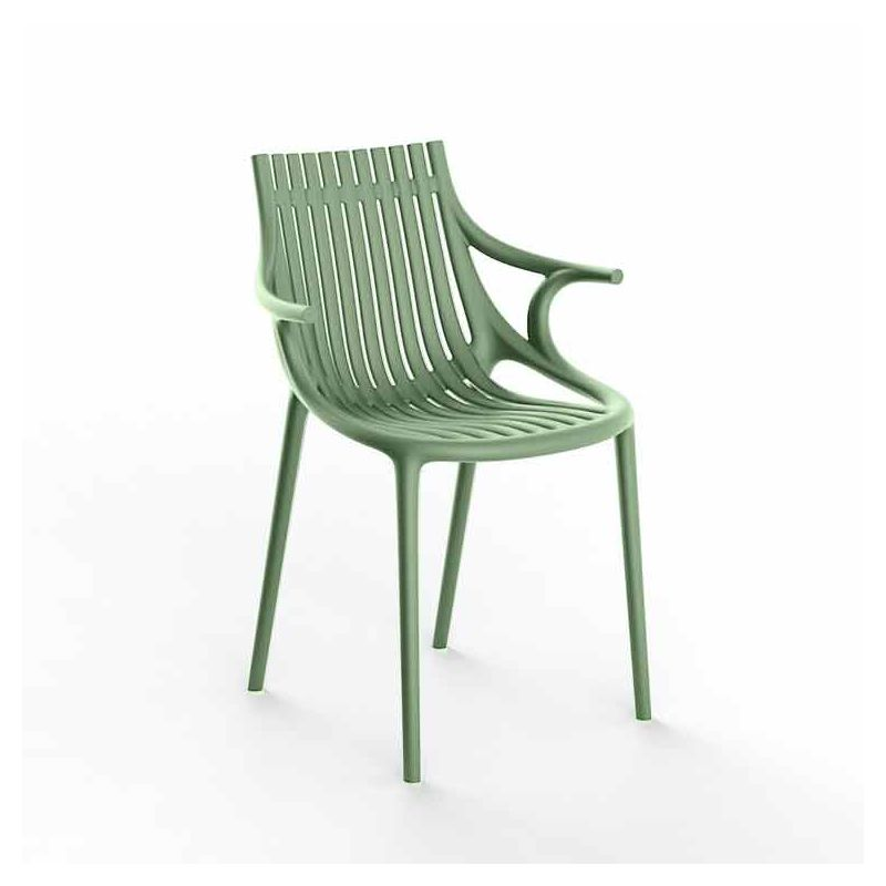 Chaise à accoudoirs outdoor IBIZA Vondom, coloris vert pickle