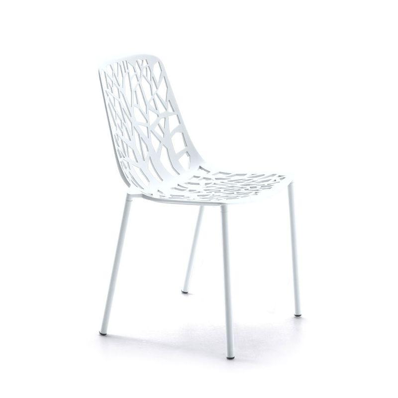 Chaise de jardin aluminium blanc FOREST Fast