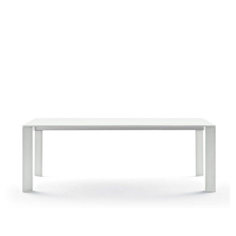 Table aluminium 220 cm GRANDE ARCHE Fast, coloris blanc