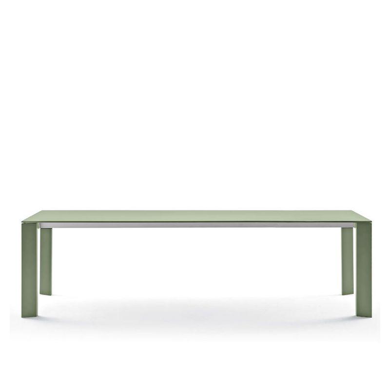 Table extensible aluminium 220/270 cm GRANDE ARCHE Fast, coloris thé vert