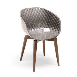 Chaise pieds hêtre naturel ou teinté 599 UNI-KA Et-al