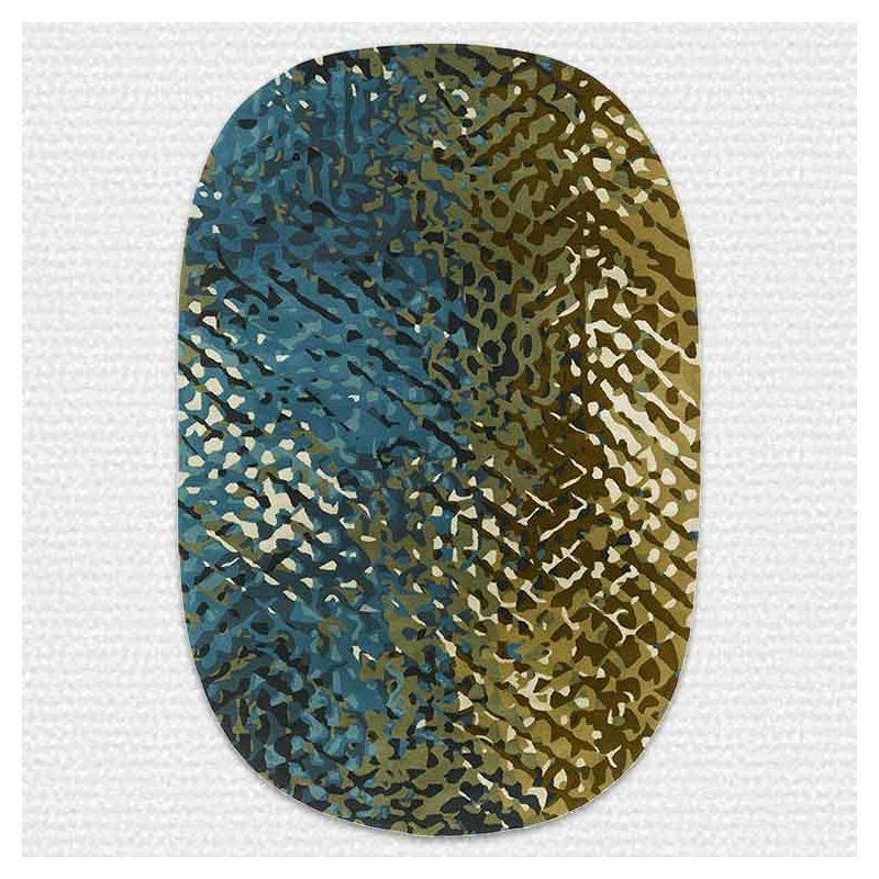 Tapis APIDEA Bleu vert, collection Designers Toulemonde Bochart