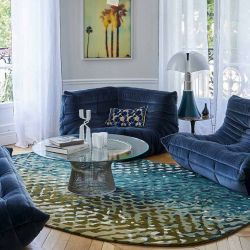Tapis APIDEA Bleu vert, collection Designers Toulemonde Bochart copyright D.Delmas