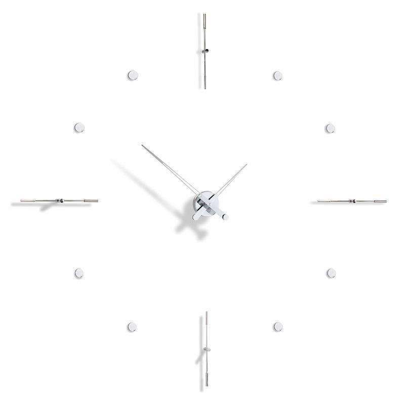 Horloge murale MIXTO i acier chromé Nomon
