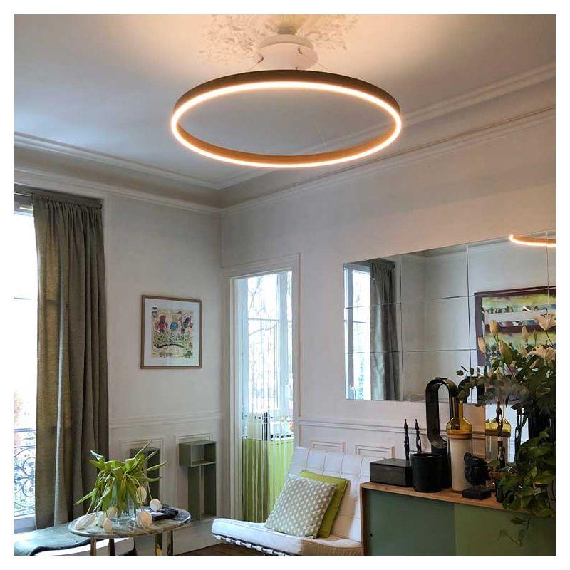 Suspension LEDs O² Henri Bursztyn, finition chêne/chêne