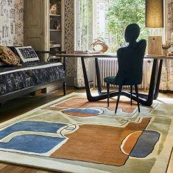 Tapis BLEU DES YEUX, collection Designers Toulemonde Bochart copyright D.Delmas