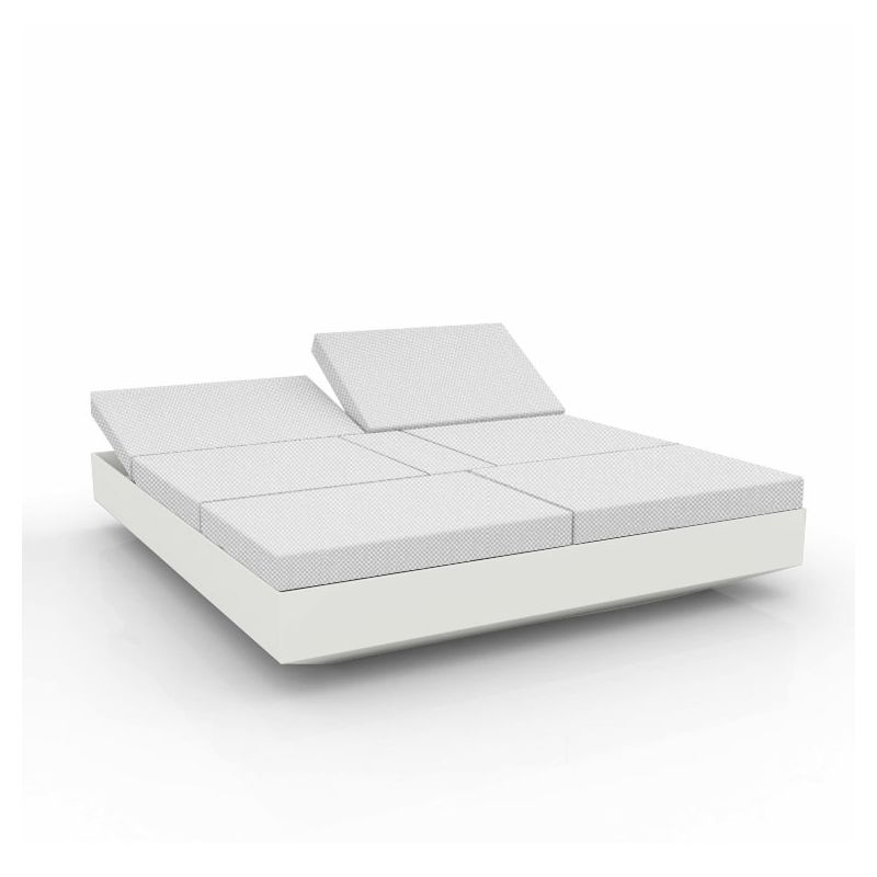 Daybed chassis blanc, dossiers inclinables Crevin blanc VELA Vondom