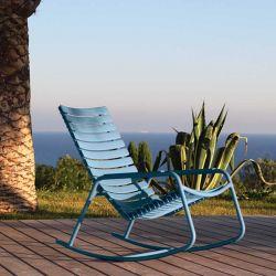 Rocking chair outdoor bleu ciel RECLIPS  Houe, accoudoirs aluminium