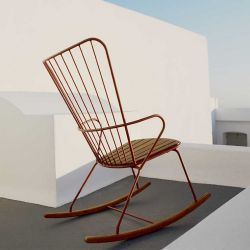Rocking chair outdoor paprika PAON Houe