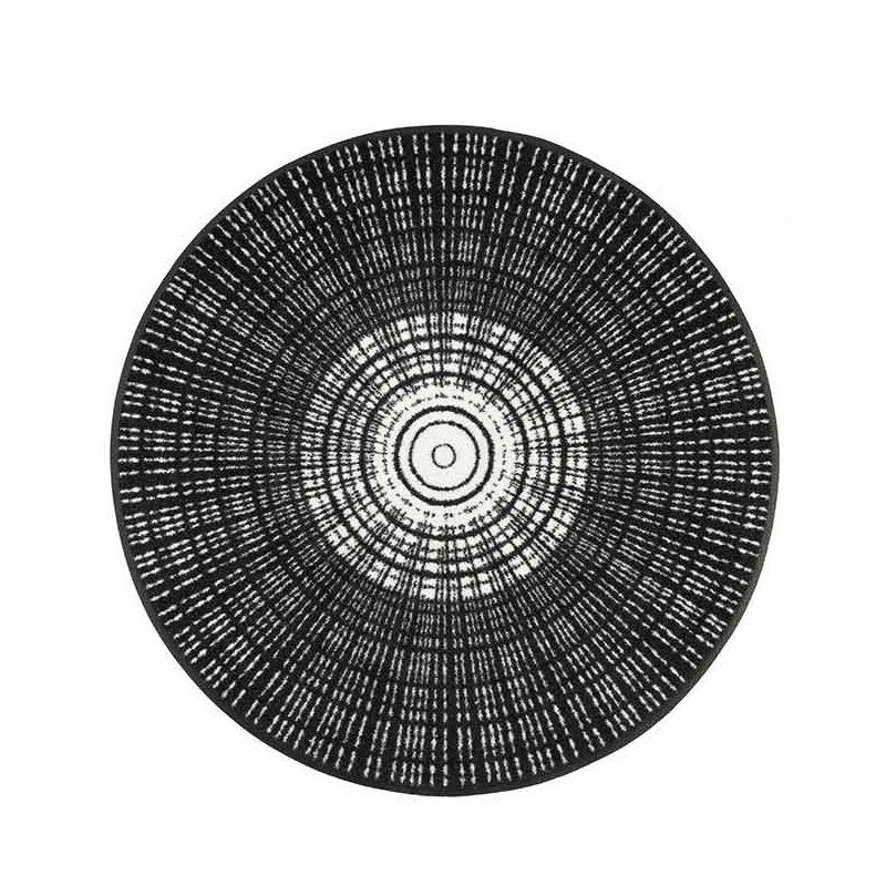 Tapis CASCARA BLACK Wash and Dry Ø 85 cm