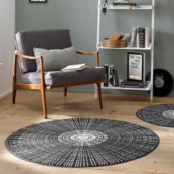 Tapis CASCARA BLACK Wash and Dry