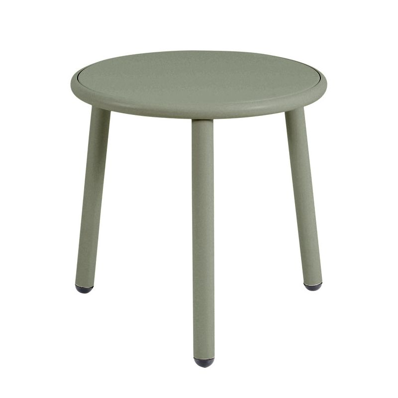 Table basse ronde YARD Emu, coloris vert gris