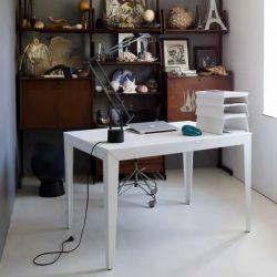 Table rectangulaire ZEF 140 x 90 cm Matière Grise