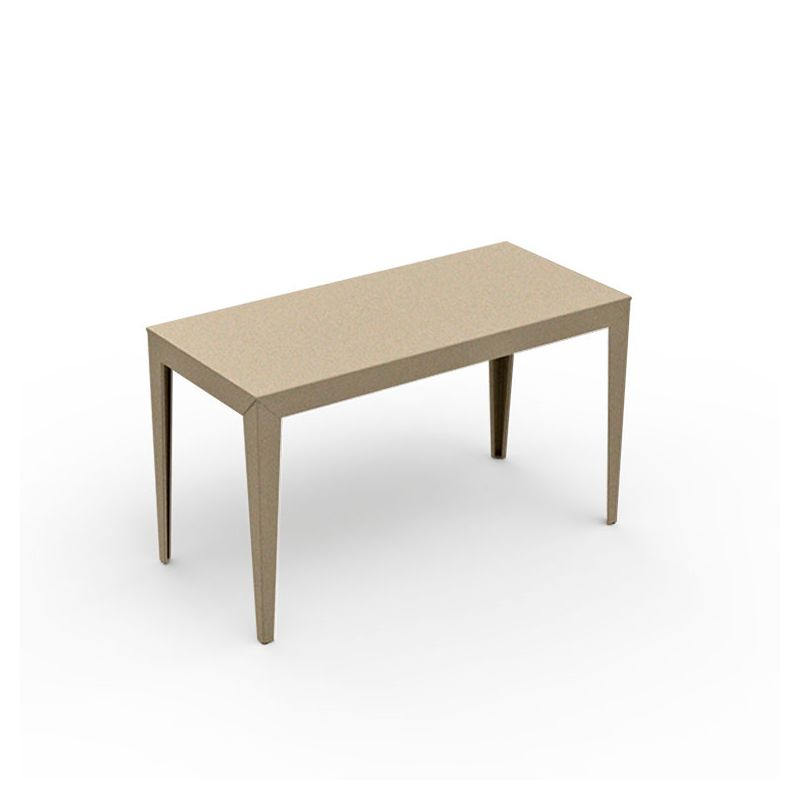 Table rectangulaire ZEF 130 x 60 cm Matière Grise, coloris sable
