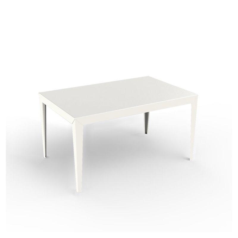 Table rectangulaire ZEF 140 x 90 cm Matière Grise, coloris blanc