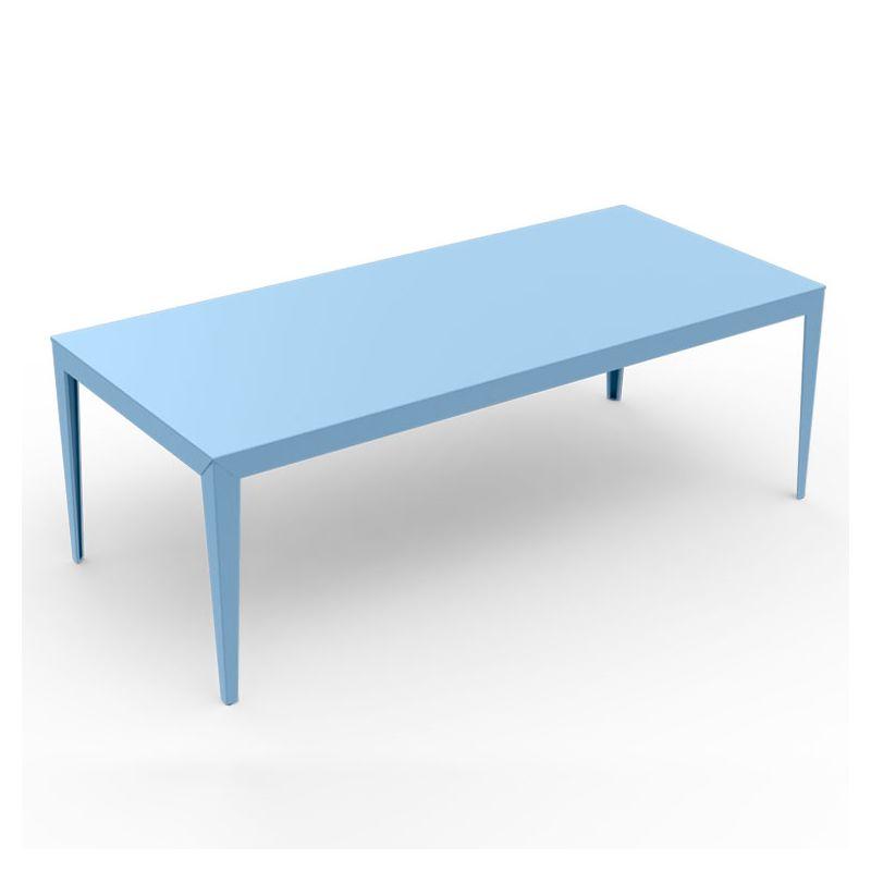 Table rectangulaire ZEF 220 x 100 cm Matière Grise, coloris azur