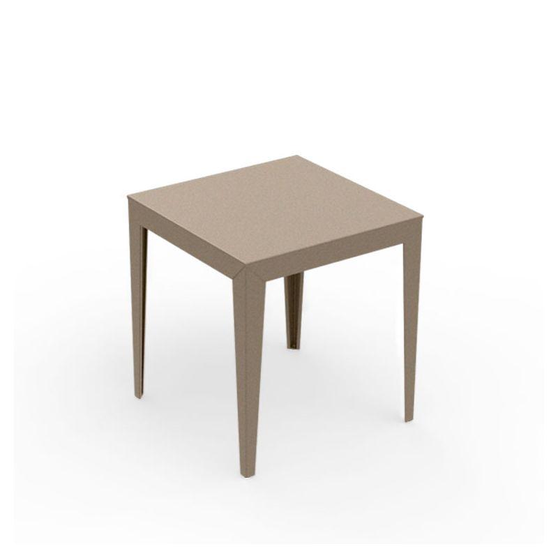 Table carrée ZEF 70 x 70 cm Matière Grise, coloris sable