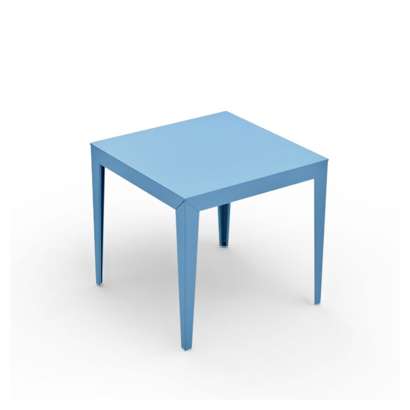 Table carrée ZEF 80 x 80 cm Matière Grise, coloris azur