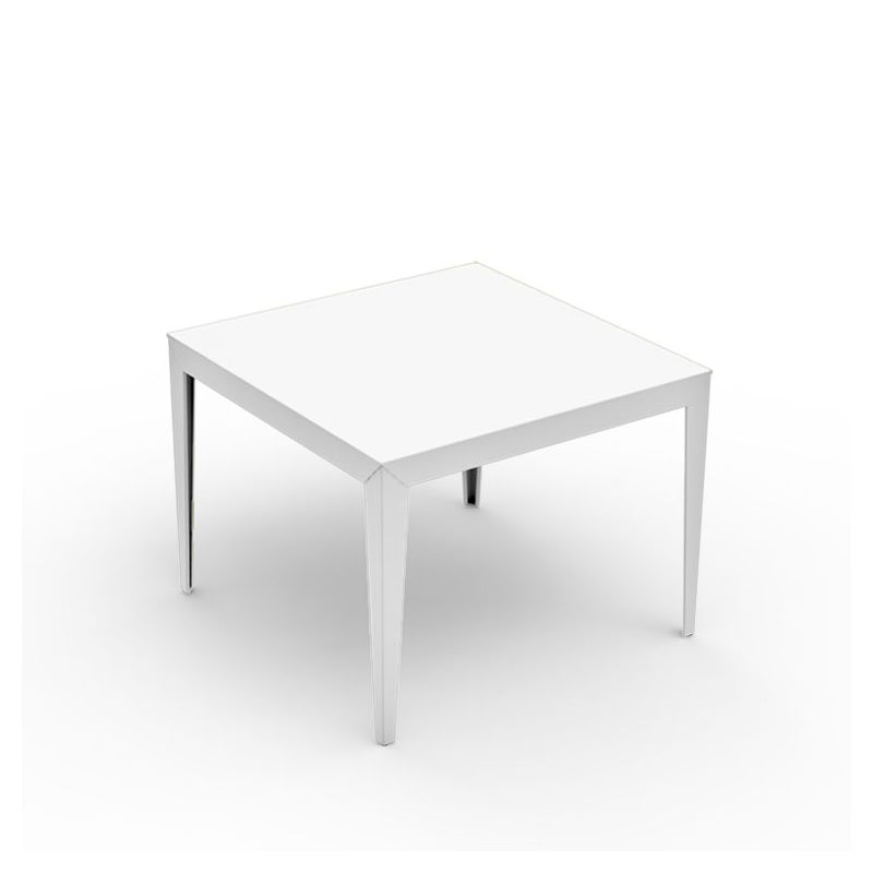 Table carrée ZEF 100 x 100 cm Matière Grise, coloris blanc