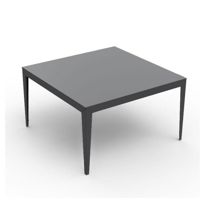 Table carrée ZEF 130 x 130 cm Matière Grise, coloris anthracite
