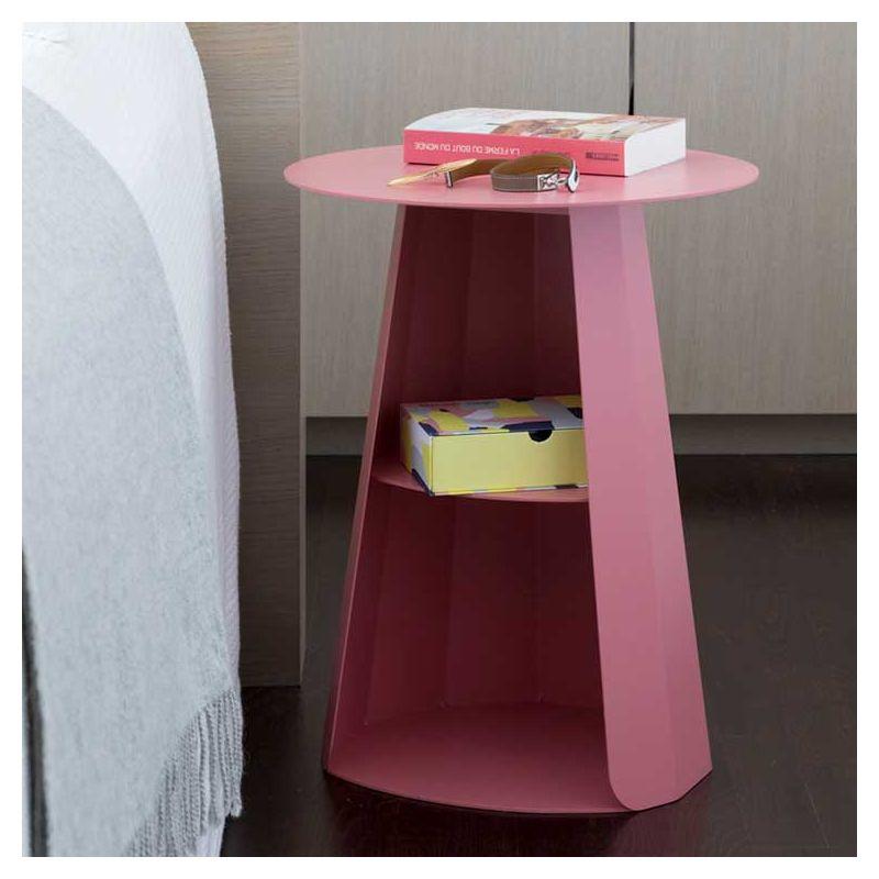 Chevet ANKARA Matière Grise, coloris pink lady
