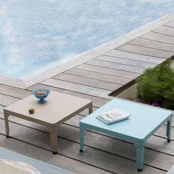 Table basse carrée 79 x 79 cm HEGOA Matière Grise