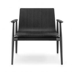 Fauteuil MALMÖ 295, finition frêne teinté noir Pedrali