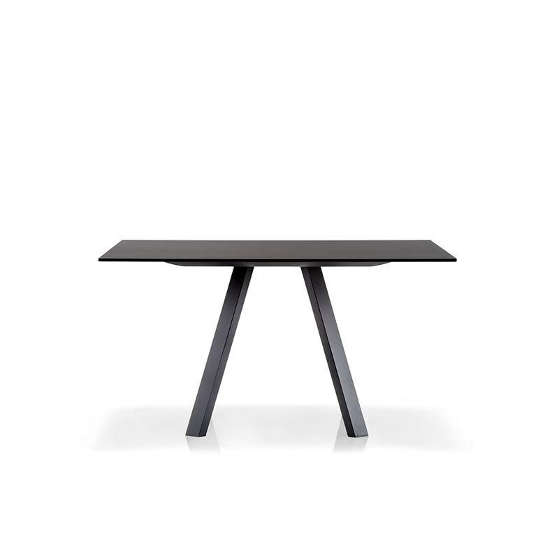 Table ARKI M, noire, 139 x 139 Pedrali