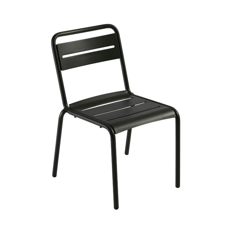 Chaise de jardin noire STAR Emu