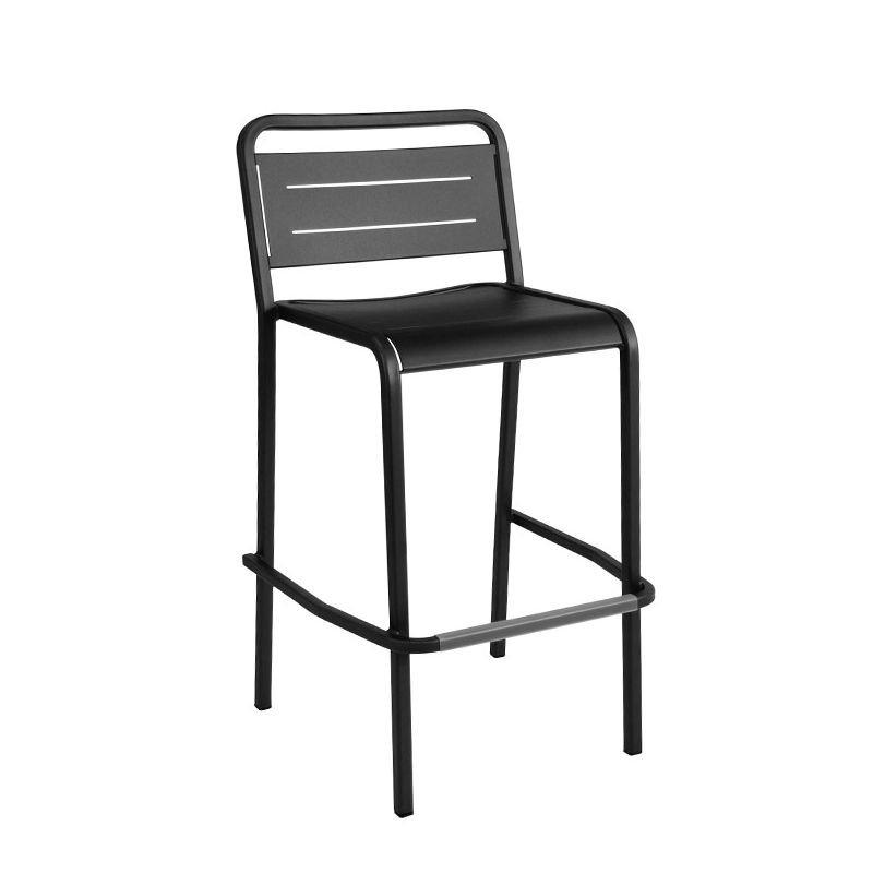 Chaise de bar empilable noire URBAN Emu