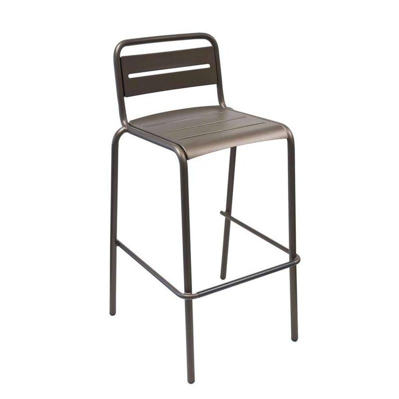 Chaise de bar empilable fer ancien STAR Emu