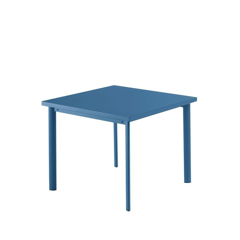 Table carrée bleu mat STAR Emu