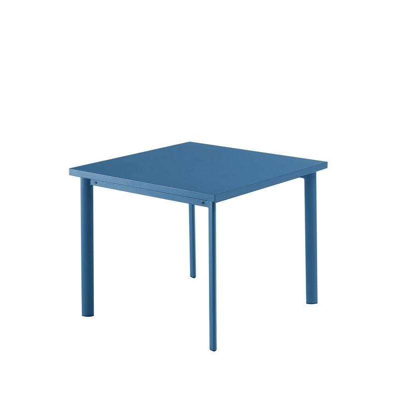 Table carrée bleu mat STAR Emu