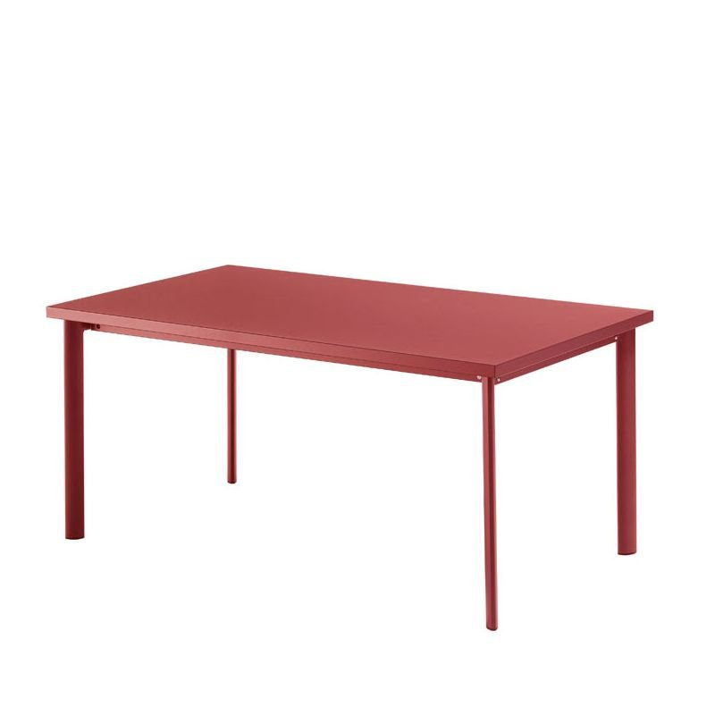 Table rectangulaire rouge écarlate STAR Emu
