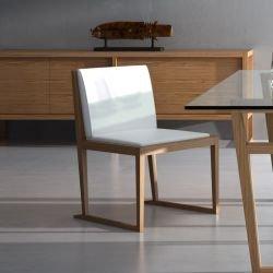 Chaise chêne revêtement blanc MARALBA Celda