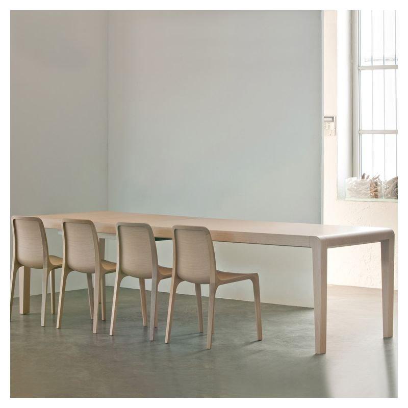 Table extensible chêne blanchi EXTESO Pedrali